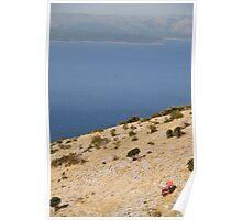 car beach adriatic Poster
