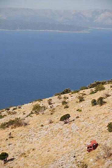 car beach adriatic by 305movingart