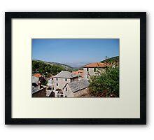 croatia village Framed Print