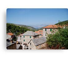 croatia village Canvas Print