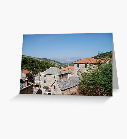 croatia village Greeting Card