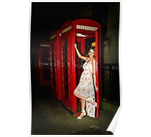 Lady in Phone Box Poster