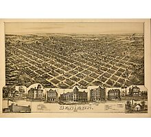 Panoramic Maps Denison Grayson County Texas 1891 Photographic Print