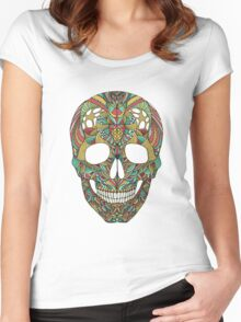 Ethno skull Women's Fitted Scoop T-Shirt
