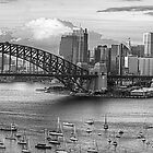 My KInd Of Town - Monochrome  Dreams - Sydney, Australia (20 Exposure Panoramic) The HDR Experience by Philip Johnson