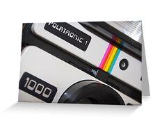 Retro Camera abstract Greeting Card