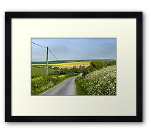 Back road to Spring Framed Print