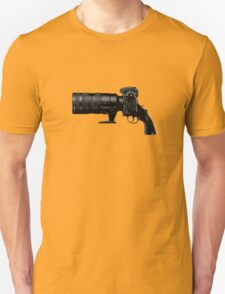 Shoot! (Black Barrel) Unisex T-Shirt