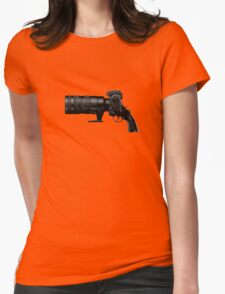 Shoot! (Black Barrel) Womens Fitted T-Shirt