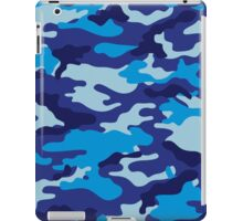 Camouflage (Blue) iPad Case/Skin