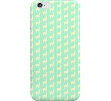 Mint and Yellow Minimalist Alpaca Print iPhone Case/Skin