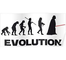 Evolution Star Wars Poster