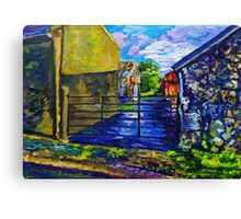 "Farm Buildings on the Carneal Road, Gleno, County Antrim."" Canvas Print"