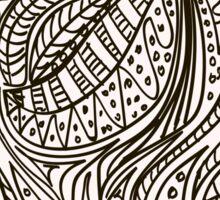 Cute cartoon doodle hipster pattern. Sticker