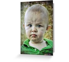 So you think you can punk a punker? Greeting Card