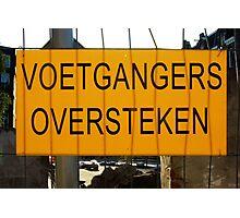 Temporary Amsterdam - Voetgangers oversteken Photographic Print