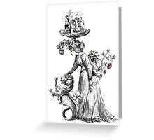 The Chimera Collector - A Thought Garden III Greeting Card