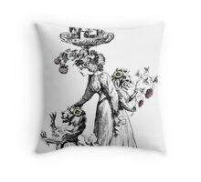 The Chimera Collector - A Thought Garden III Throw Pillow
