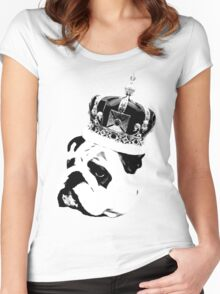 English Bulldog  Women's Fitted Scoop T-Shirt