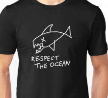 Respect the Ocean - Cool Grunge Mashup - Black Version Unisex T-Shirt