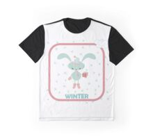 Christmas card with happy rabbit Graphic T-Shirt