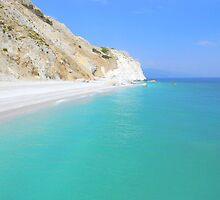 Skiathos Island, Greece - Lalaria Beach and Limestone Cliffs by Honor Kyne