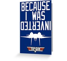 Top Gun Greeting Card