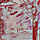 Red cottage by phinne