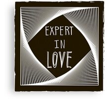 Expert in love Canvas Print