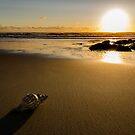 Sunset on the beach by homydesign