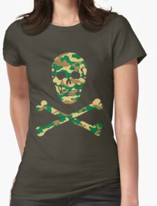 Skull Camouflage / Totenkopf Camouflage Womens Fitted T-Shirt