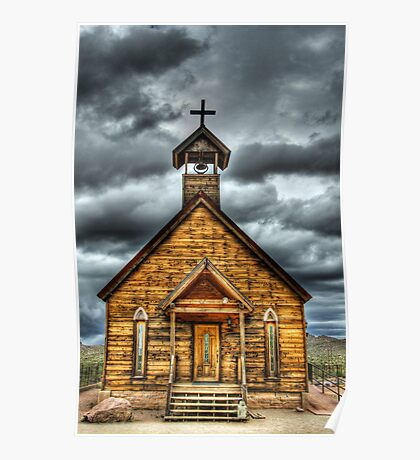Goldfield Ghost Town - Church  Poster