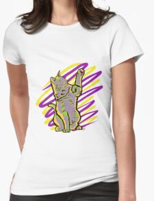 Catscribble Womens Fitted T-Shirt