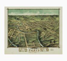 Panoramic Maps Bird's eye view of the city of Paris Bourbon County Kentucky 1870 Baby Tee