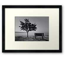 Naples,Fl. / Black White film Framed Print