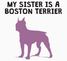 My Sister Is A Boston Terrier Kids Clothes