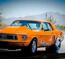 Orange Ford Mustang by msqrd2