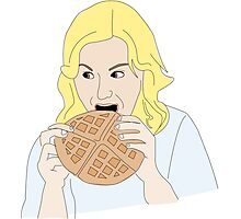 Leslie likes waffles Photographic Print