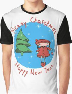 Girl with Christmas ball.  Graphic T-Shirt