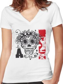 mexico Women's Fitted V-Neck T-Shirt