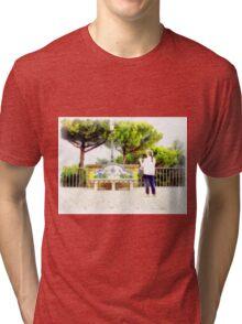 Castel Gandolfo: garden of the Villa Barberini Tri-blend T-Shirt