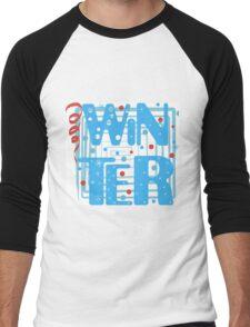 WINTER. Slogan print graphic.  Men's Baseball ¾ T-Shirt