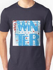 WINTER. Slogan print graphic.  T-Shirt