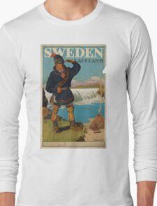 Vintage poster - Sweden Long Sleeve T-Shirt