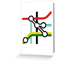 Tube Junction No1 Greeting Card