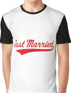 Just Married (Marriage / Wedding / Red) Graphic T-Shirt