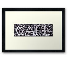 Cafe - William Morris Inspired Font Framed Print
