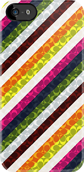 Colourful Stripe Case by Jenifer Jenkins