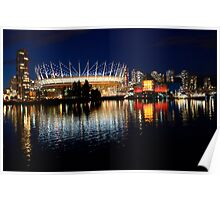 Vancouver British Columbia Skyline Poster