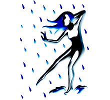 Rain Goddess Illuminated Photographic Print
